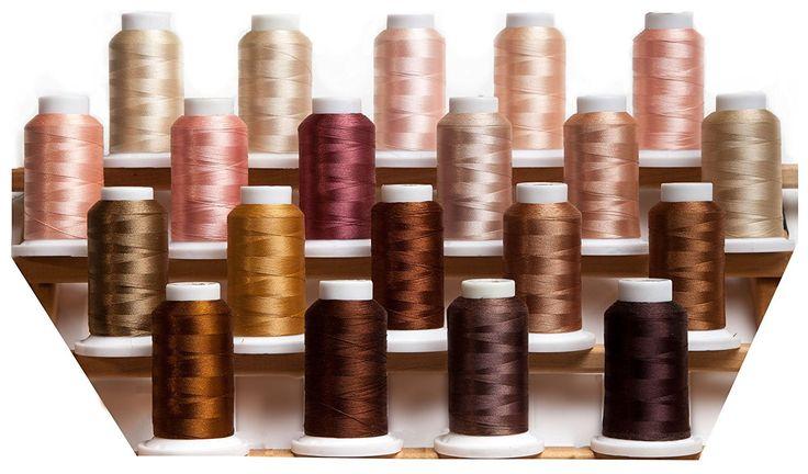 Amazon.com: BFC Poly Skin Colors Machine Embroidery Thread Set
