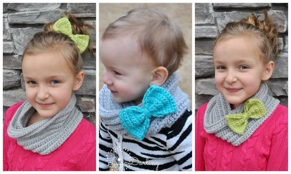 Toddler to Kid Crochet Infinity Scarfs with by LiyaDarling on Etsy, $16.00