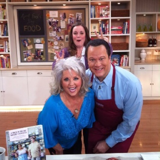 Love Paula Deen - in the kitchen with David, one of my favorite hosts on QVC.