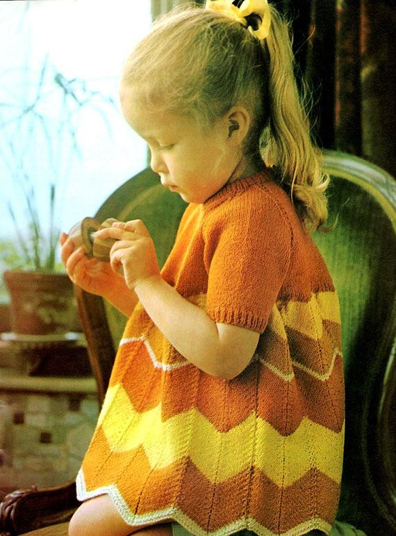 Vintage Knitting Pattern Little Girls by kayscrochetpatterns, $3.00