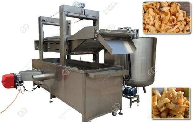 This pork rinds fryer machine, also named pork skin frying machine, has three baskets, can be used to fry pork rinds, chicken nuggets, beans, etc.    Link: www.chipsfryer.com