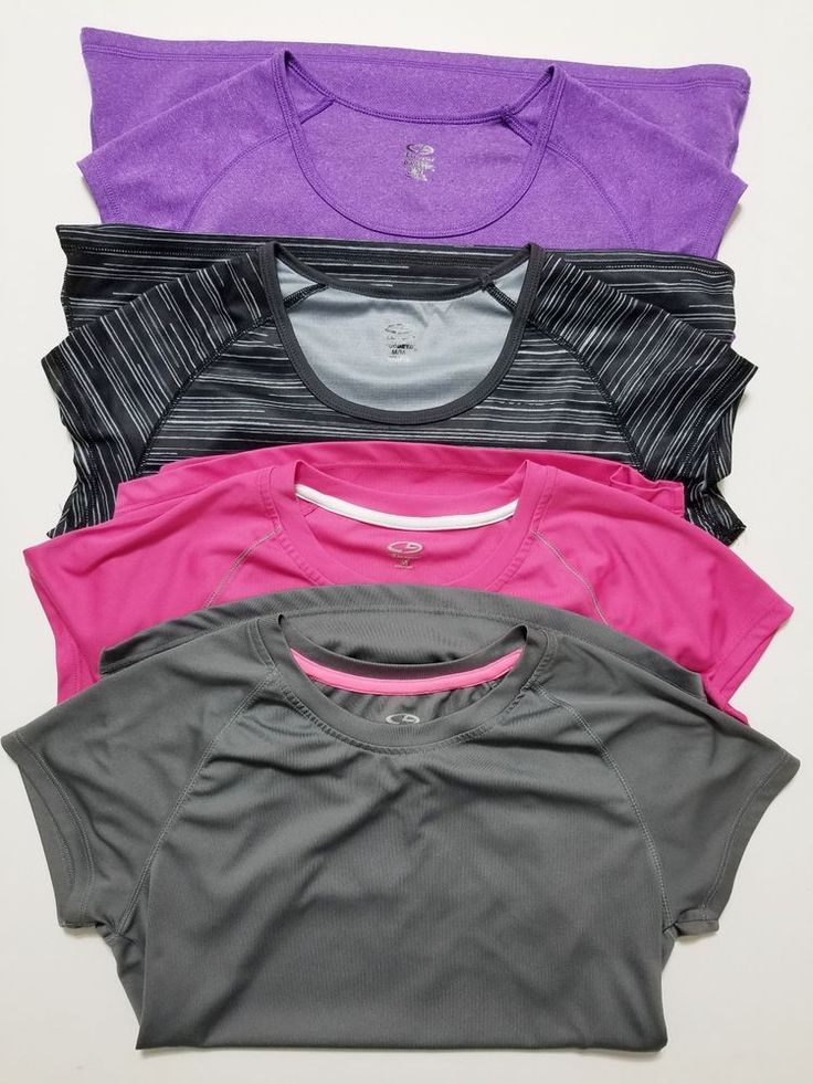 4 Champion - Women's Tops - Size M - Workout Yoga Running Shirt -  Gray Pink Black Purple  #Champion #PulloverTops ..... Visit all of our online locations.....  www.stores.eBay.com/variety-on-a-budget .....  www.stores.ebay.com/ourfamilygeneralstore .....  www.etsy.com/shop/VarietyonaBudget .....  www.bonanza.com/booths/VarietyonaBudget .....  www.facebook.com/VarietyonaBudgetOnlineShopping