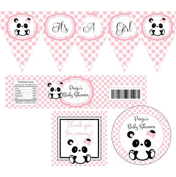 Baby Panda Baby Shower Party Printable Set
