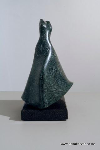 Green dress - Stone - Anna korver