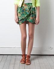 Pull and Bear - Tropical Print Sarong Skirt