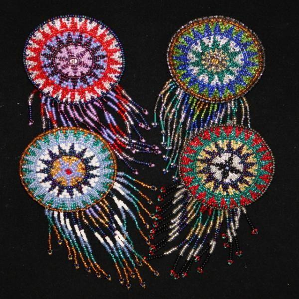 Native American Beaded Barrettes | Barrettes | Native American Jewelry/Barrettes | Route 66 Gifts Online