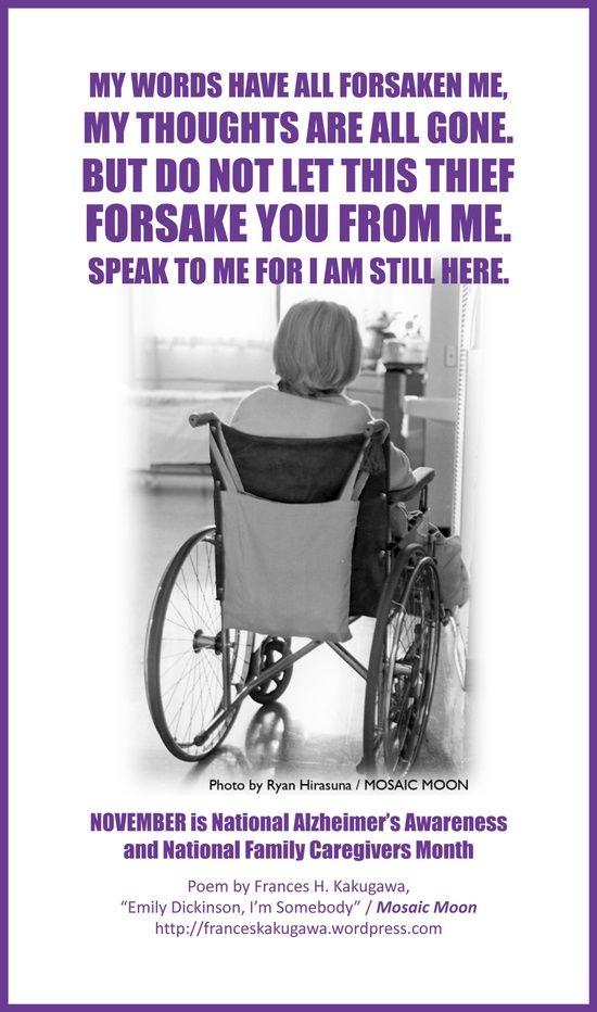 alzheimers awareness poem   Health / November is Nat'l Alzheimer's Awareness & Nat'l Family ...
