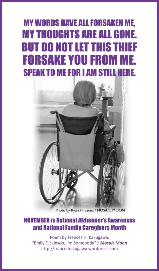 alzheimers awareness poem | Health / November is Nat'l Alzheimer's Awareness & Nat'l Family ...