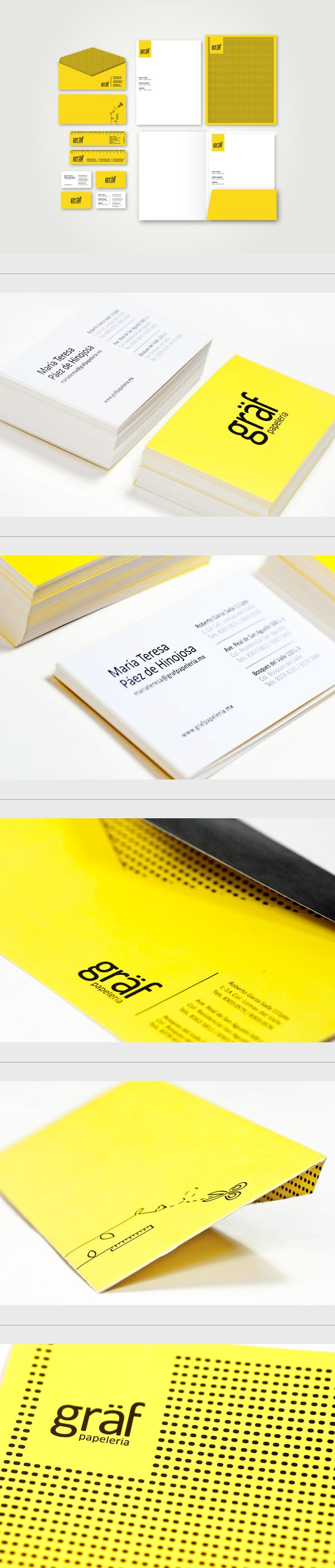 Graf Papelería by Spectro, via Behance | #stationary #corporate #design #corporatedesign #identity #branding #marketing < repinned by www.BlickeDeeler.de | Take a look at www.LogoGestaltung-Hamburg.de