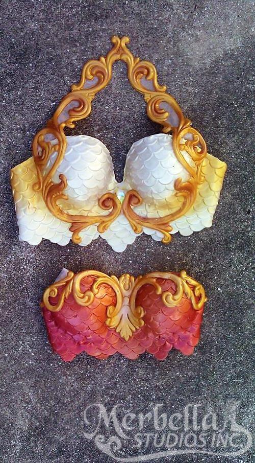 Merbella Studios 'Atlantis' style silicone mermaid tops! Perfect for any mermaid tail owner