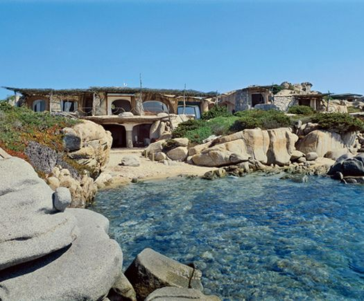"""SCULPTED HOUSE: """"I respected the existing environment, the house is married to the land and to the sea,"""" architect Savin Couelle has stated in reference to this incredible home he has designed on the small island of Cavallo, off the coast of Corsica in the Mediterranean Sea."""