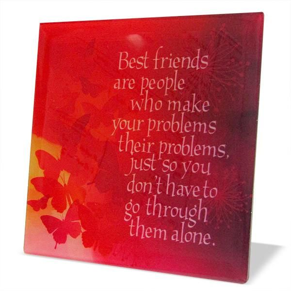 Quotation For Best Friend Best friends are people who make your problems their problems, just so you don't have to go through them alone. #QuotationForBestFriend #friendshipdaymessages | Rs. 324 | Shop Now | https://hallmarkcards.co.in/collections/friendship-day/products/gift-for-best-friends