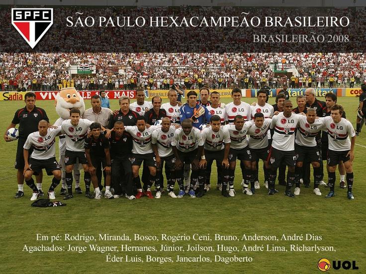 São Paulo Campeão Brasileiro - 2008 (Hexa e Tri)