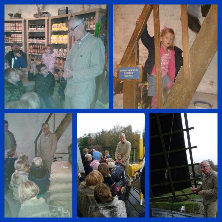 OJBS de #Lichtstraat | Groep 1-2 bezoekt de Kerkhovense molen in #Oisterwijk