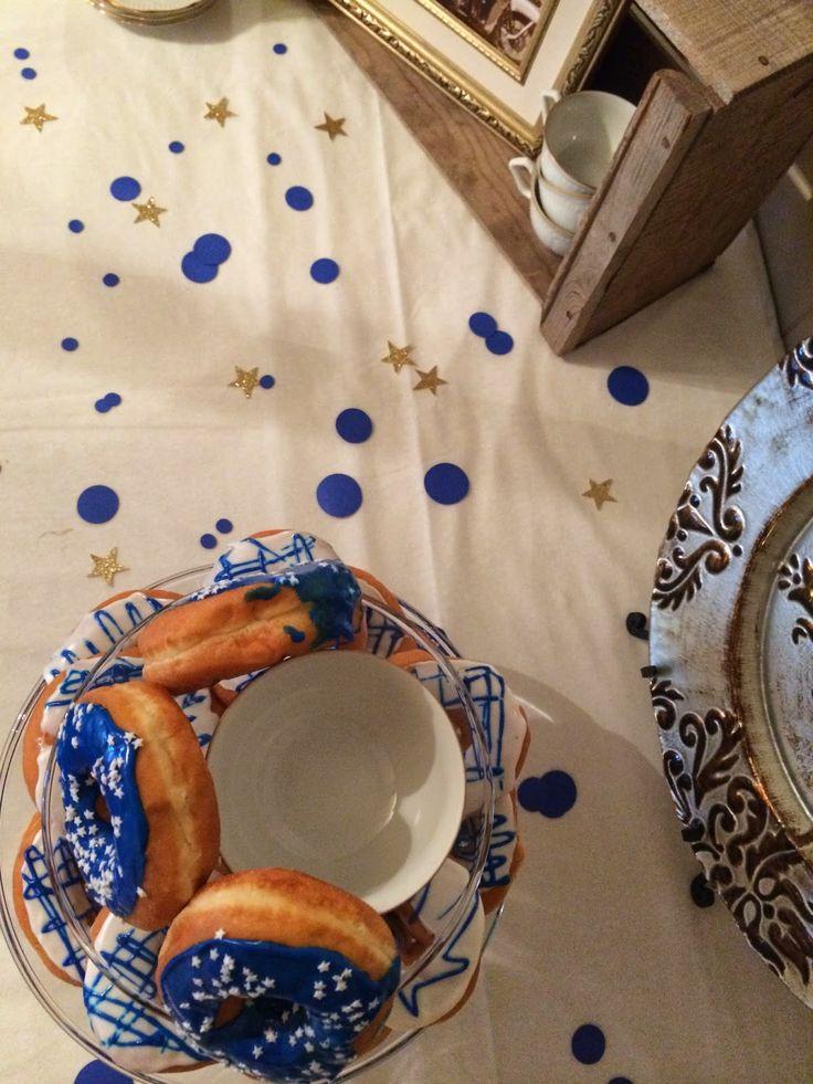 Blue Amp Gold Donuts Amp Mug Shots Party Buzz Pinterest