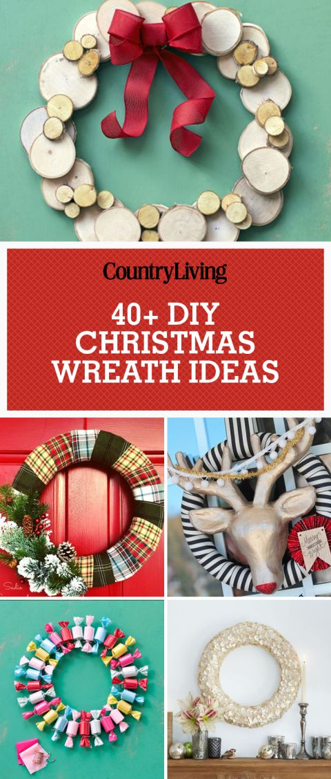 45 festive do it yourself christmas wreath ideas wood for Christmas decorations to make yourself