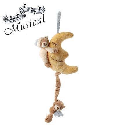 Viggo is a soft #musical #plush #toy that plays a #lullaby when  you pull the #angel-bear .