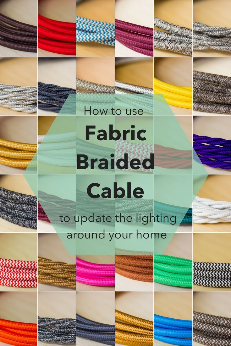 Braided Fabric Cable is one of the hottest interior lighting trends in the past couple of years. It works with pretty much any style of lighting whether thats vintage or ultra modern: there is a colour and fabric finish to suit. This kind of lighting cable can be used in any room in your home: Swag pendants in the dining room, beautiful bedside lamps, industrial pendants in the kitchen or super colourful statement in your kids room. The list of uses is endless.