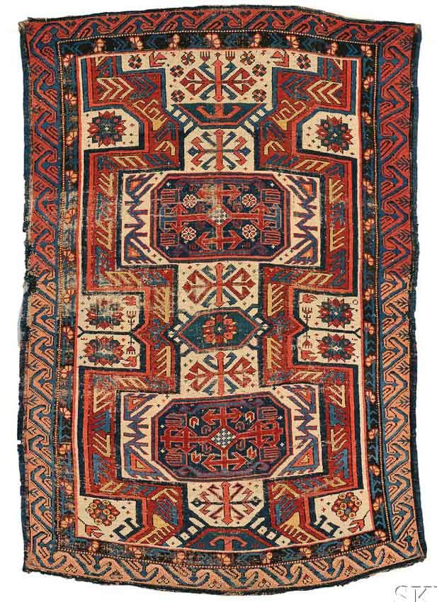Lot 299 A Kuba Seichour Rug Northeast Caucasus Late 19th Century 5