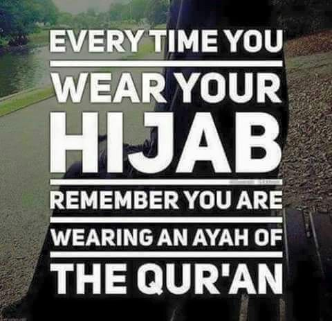 """O Prophet (PBUH) tell your wives and your daughters and the women of the believers to draw their cloaks close round them (when they go abroad). That will be better, so that they may be recognized and not annoyed. Allah is ever Forgiving, Merciful."""" (Quran 33:59)"""