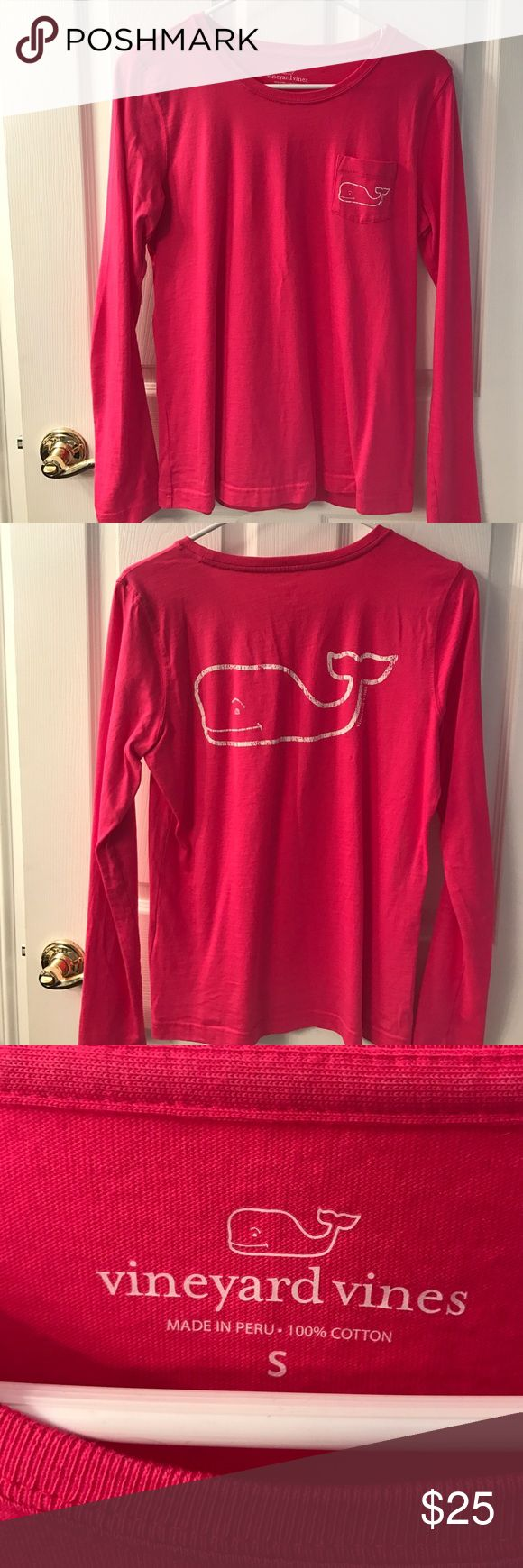Vineyard Vines ladies t-shirt Pink VV ladies t-shirt, size small, in great condition with no signs of wear! Vineyard Vines Tops Tees - Long Sleeve