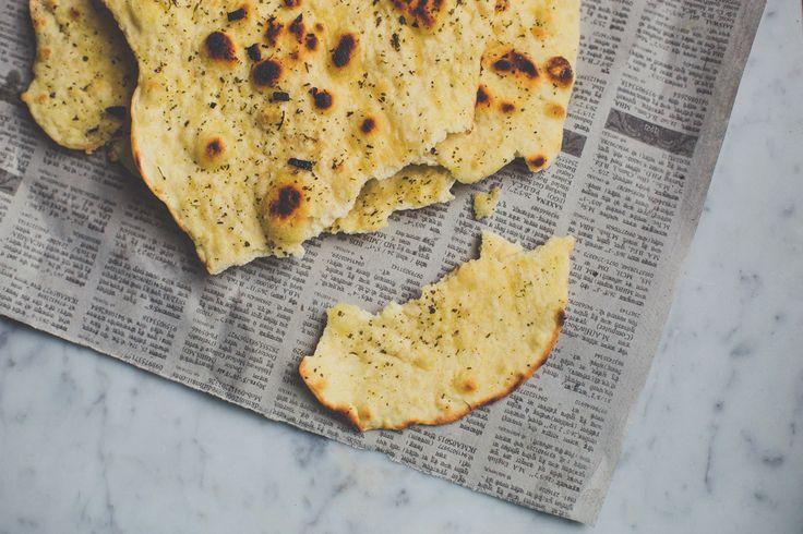 Recept vegan naanbrood met knoflook | De Groene meisjes