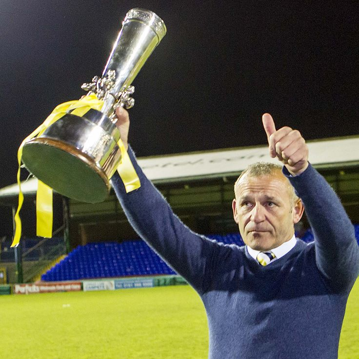 Manager Shaun Reid with the Doodson Sports Cup