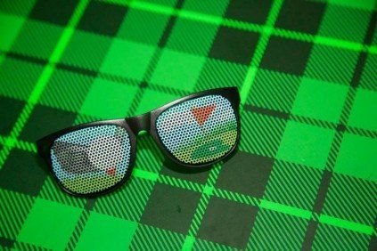 Golf themed glasses were the perfect favor at this Bar Mitzvah.    Bar Mitzvah Favors   Golf Theme   Golf Bar Mitzvah   Bar Mitzvah Giveaways