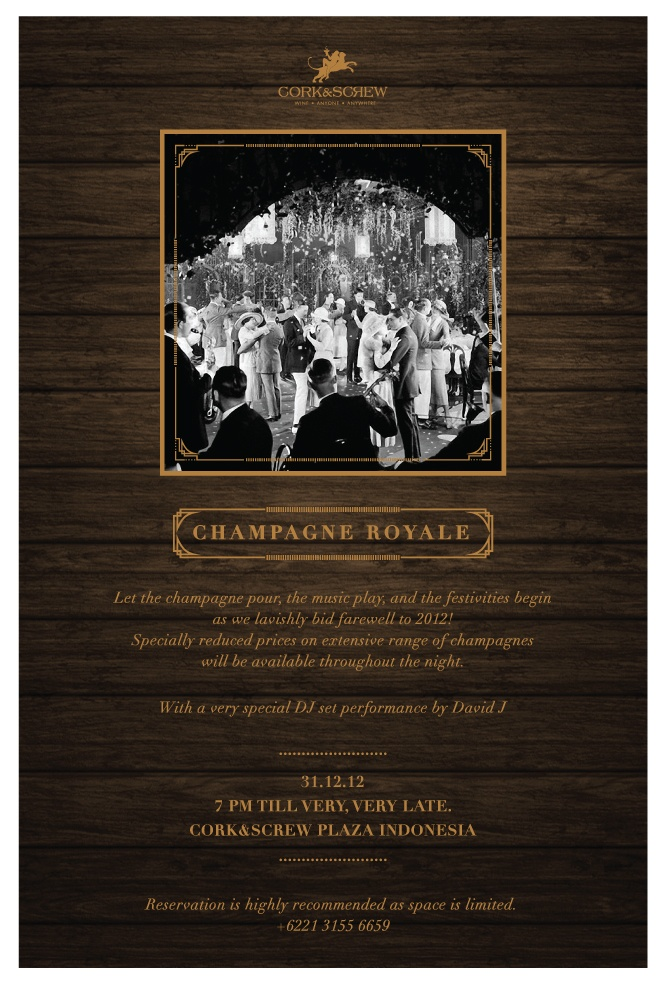 #Champagne #Royale - A #newyear #festive #party @corknscrew #jakarta #jkt with DJ #davidj