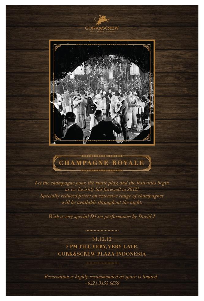 #Champagne #Royale - A #newyear #festive #party @corknscrew #jakarta #jkt with DJ #davidj