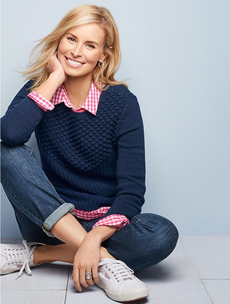 Mixed-Stitched Sweater | Talbots