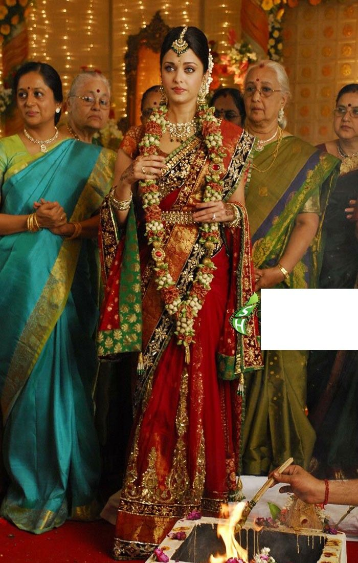 144 best images about bollywood sarees on pinterest for Aishwarya rai in her wedding dress