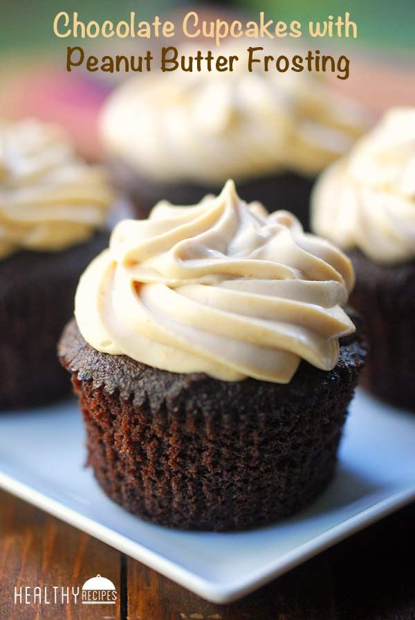 Chocolate Cupcakes with Peanut Butter Frosting