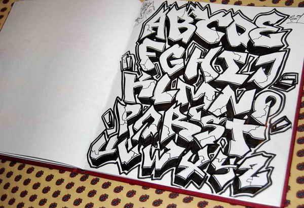 Graffiti Letters Alphabet Wildstyle ,