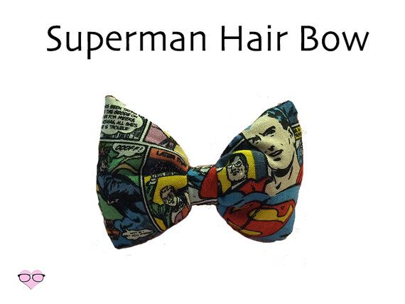 Superman Hair Bow by NerdsWithVaginas on Etsy