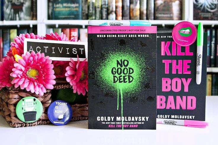 Good Afternoon Bookworms!! --- This week I'm teaming up with @ireadya to help #SpreadTheWord about #NoGoodDeed a hilarious tale of teenage revolt from Goldy Moldavsky bestselling author of Kill the Boy Band!! --- When a group of activists come together to save the world it isn't long before lines are crossed and sabotage ensues. This is a story that will make you ask yourself: how far would you go for your cause? --- Does this book sound great or what?? Get your copy of No Good Deeds in…
