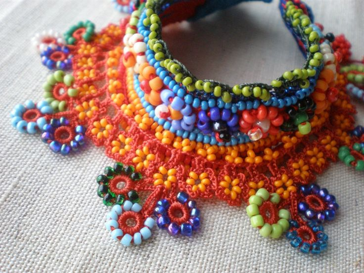 crochet and beads