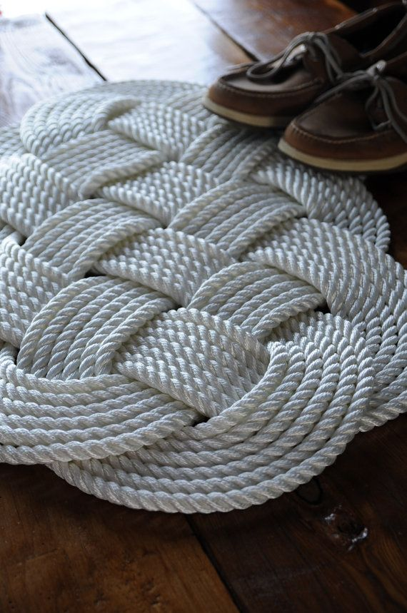 Hey, I found this really awesome Etsy listing at https://www.etsy.com/listing/182640922/nautical-white-rug-nautical-decor-bath