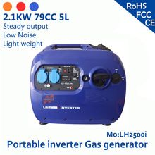 2.4KW 79cc 5L 120V or 230V simple operation easy inspection the color can be customized 8A small portable inverter gas generator