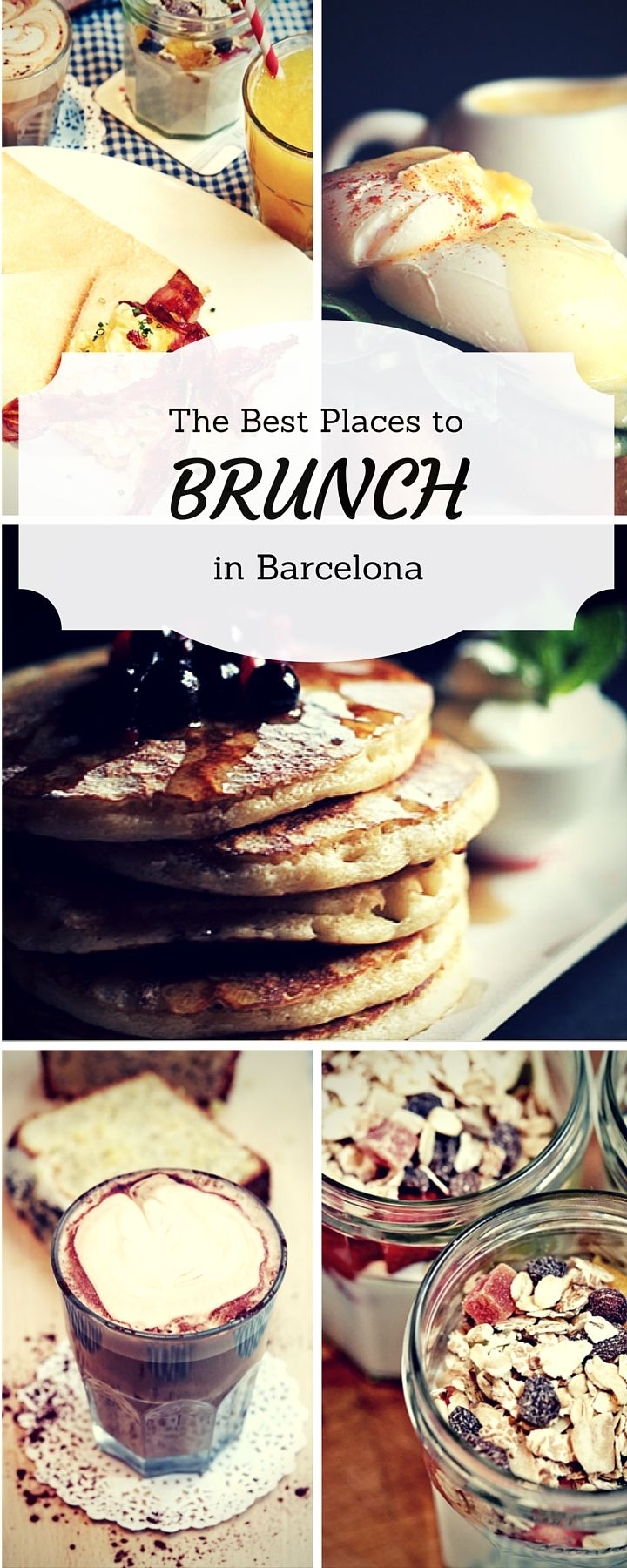 The best places to start the day with a great brunch in the the beautiful city of Barcelona