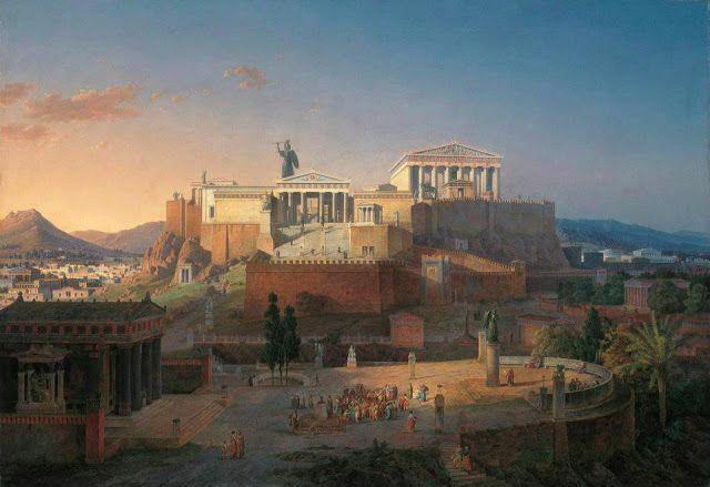 Leo Von Klenze ,1846.Αναπαράσταση Ακρόπολης Αθηνών την εποχή του Περικλέους.Neue Pinakothek,Μόναχο.