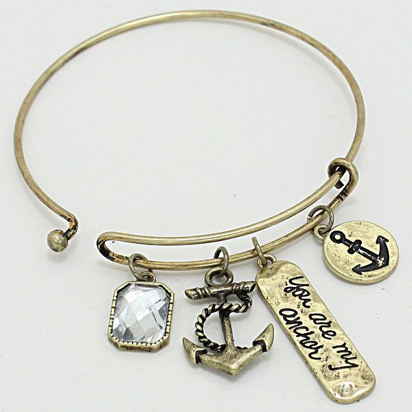 """""""You Are My Anchor"""" Bangle Bracelet 231840"""
