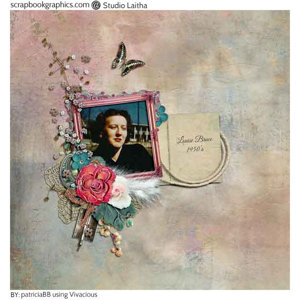 Vivacious Louise! Created using elements from Vivacious - Page Kit By Studio Laitha