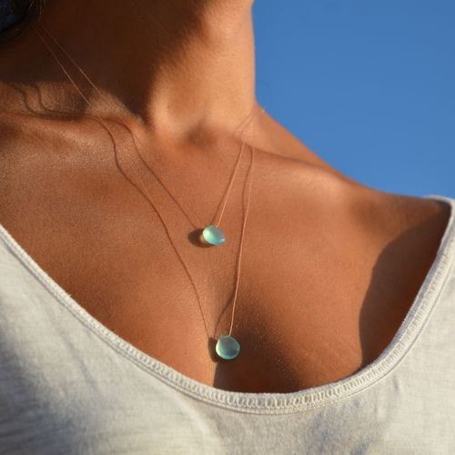 sea glass chalcedony necklace from wanderlust life available from wanderlust life (www.wanderlustlife.co.uk) travel inspired accessories from around the globe
