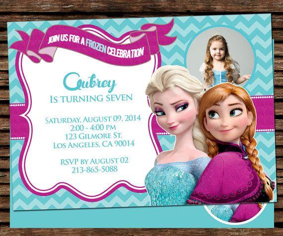 60 best Birthday Invitation images on Pinterest Birthday - invitation birthday frozen