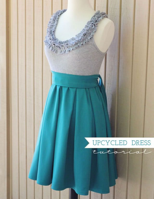 Cute DIY skirt..I know it's suppose to be a dress but I think I'd keep them separate and have the skirt lower on my waist & not directly under my bust. Cute though!