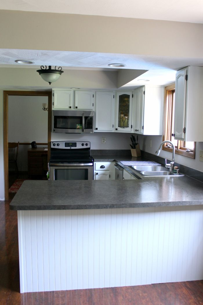 white cabinets after painting