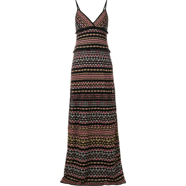 M Missoni striped maxi dress (8,645 CNY) ❤ liked on Polyvore featuring dresses, multicolour, stripe maxi dress, multi coloured striped dress, striped maxi dress, stripe dresses and multi color maxi dress