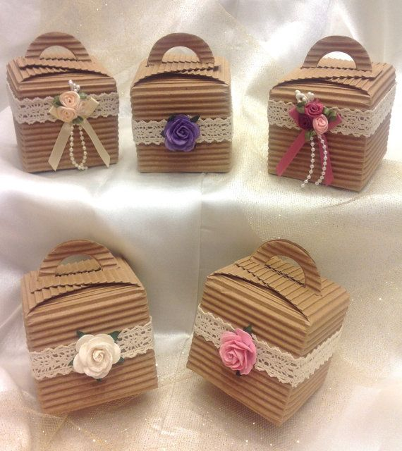 Shabby Chic Vintage ribbed Favour/Cupcake by VeryVintageBoutiques, £1.40