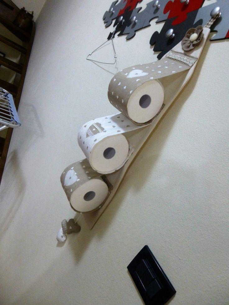 Portarotoli di carta igienica di CuciMania su Etsy